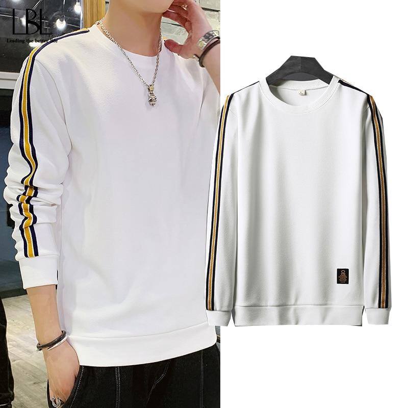 Patchwork Sweatshirt Men Spring Autumn Casual Hoodie Tracksuit Male Sweatshirts Striped Mens Pullover Sportswear Man Hoodie 2020