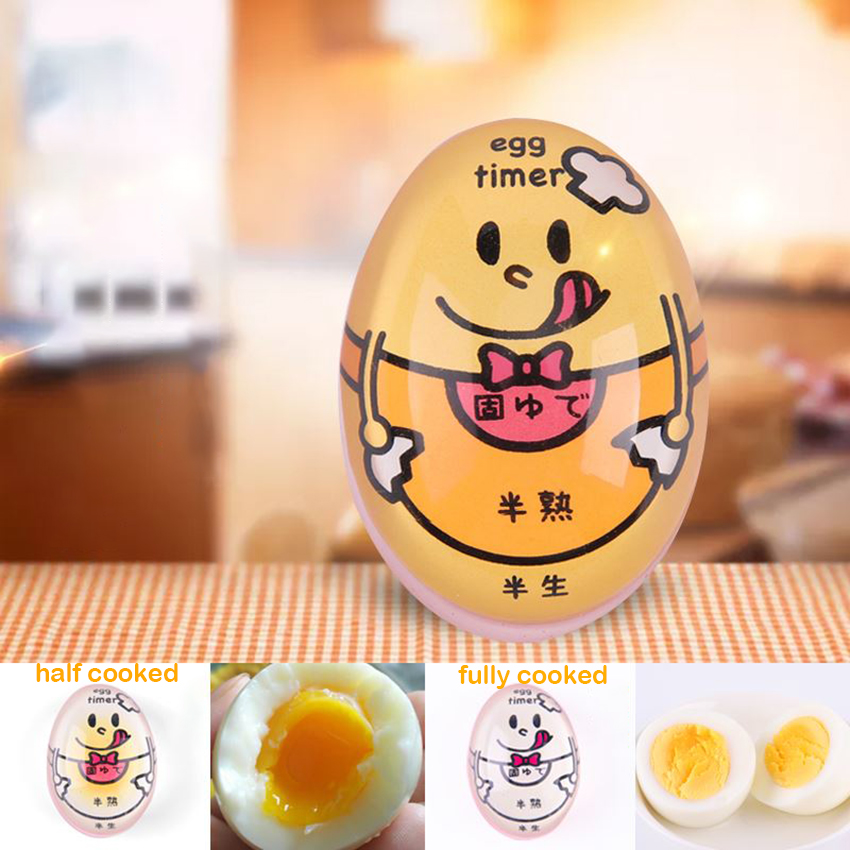 1pc Cute Cartoon Baking Egg Timer Boiled Egg Color Changing Timer Small Convenient Easy To Use 5.5×3.2 Cm Таймер Кухонный
