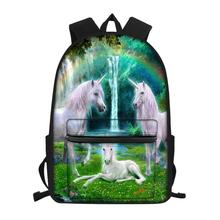 HaoYun Childrens Little Canvas Backpack Fantasy Horse Print Pattern Students School Book Bags Kids Fashion Travel Backpacks