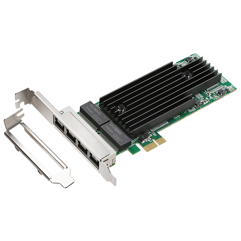 Pcie X1 1000m Lan 4-Port RJ45  Gigabit Ethernet PCI-Express X14  Server Adapter Network Card Intel82575 T4 Chipset