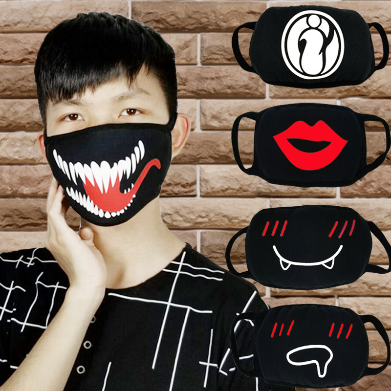 Cartoon Dust-proof Cotton Mask Outdoor Health Care Masks Expression Teeth Anti-dust Pollution Mouth Masks Unisex Face Mouth Mask