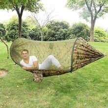 Camping Hammock Portable Camping Hammock Folding Outdoor Hammocks With Tree Strap Carabiner 114.2x55.12inch Dropshipping