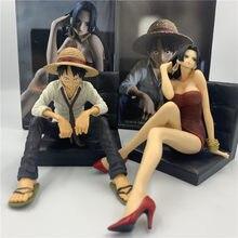 ¡2 estilos una pieza Luffy Hancock esposa vida Sexy sentado sofá Ver! Figura de acción de PVC, modelo OP Luffy handick Collect, 12cm