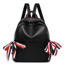 Backpack Girls 2019 New Cute Bow Decoration Shoulder Bag Pu Bagpack For Students To Shopping Or Go To School