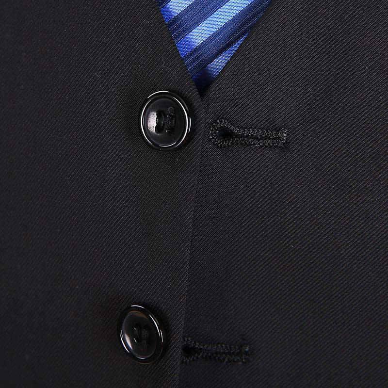 Heren Trouwjurk Pak Vest Mannen Marine Blauw Zwart Grijs Slim Zaken Vest Mannelijke Slanke Formele Mouwloze Jas Gilet Chaleco