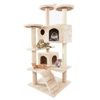 2 Colour Cat Climbing Toy Towers Frame Tree Entertainment Comfortable Stable House for Pe Pet Products TP899