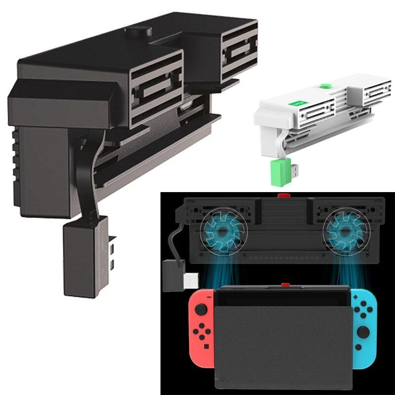 Nintend Switch 5000RPM Cooling fan 2 Fans External USB Power Super Turbo Temperature Cooler Fan For Nintendo Switch NS Console