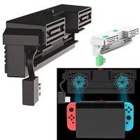 Nintend Schalter 5000RPM lüfter 2 Fans Externe USB Power Super Turbo Temperatur Kühler Lüfter Für Nintendo Schalter NS konsole