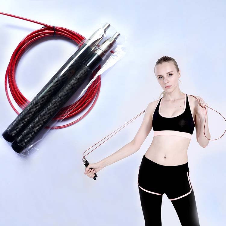 Aluminium Alloy Self-Locking Jump Rope Profession New Jump Rope All-Metal Modern Light Self-Locking Jump Rope Students Grading T