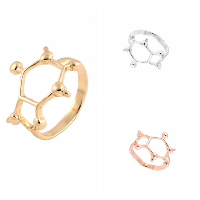 ADN Anneau Hommes Femmes chimie molécule Femmes minimaliste Ring science biologie 6.5