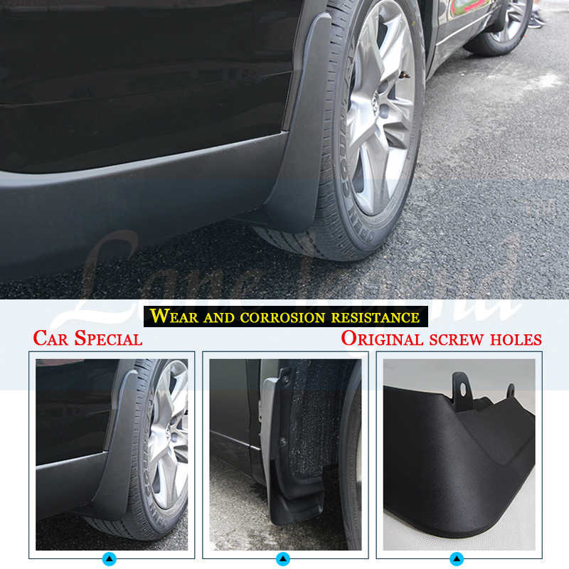8X-SPEED for Subaru Legacy 2010-2014 Mud Flaps Splash Guards Front /& Rear 4 Piece Set Black