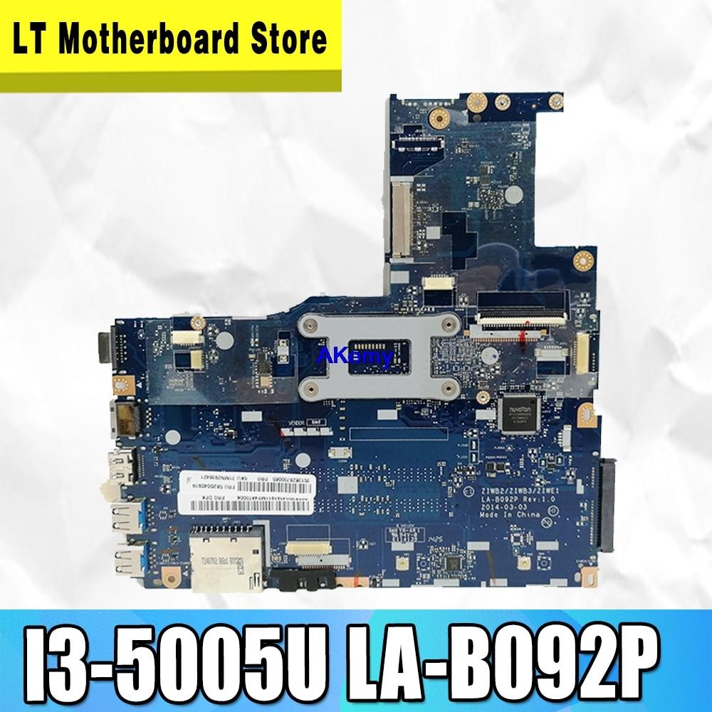 ZIWB2/ZIWB3/ZIWE1 LA-B092P For Lenovo B50-70 N50-70 B50-80 N50-80 Notebook Motherboard I3-5005U CPU DDR3 100% Test Work