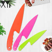 XYj Kids Kitchen Knife Set 3 Piece Chef Knife,Cooking Knives In 3 Sizes,BPA Free Plastic,Safe Knives For Bread,Lettuce Salad