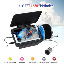F06 15M Underwater Fishing Camera 4.3″ TFT Monitor 8pcs Infrared Night Vision LED Waterproof Fish Finder Depth Detector