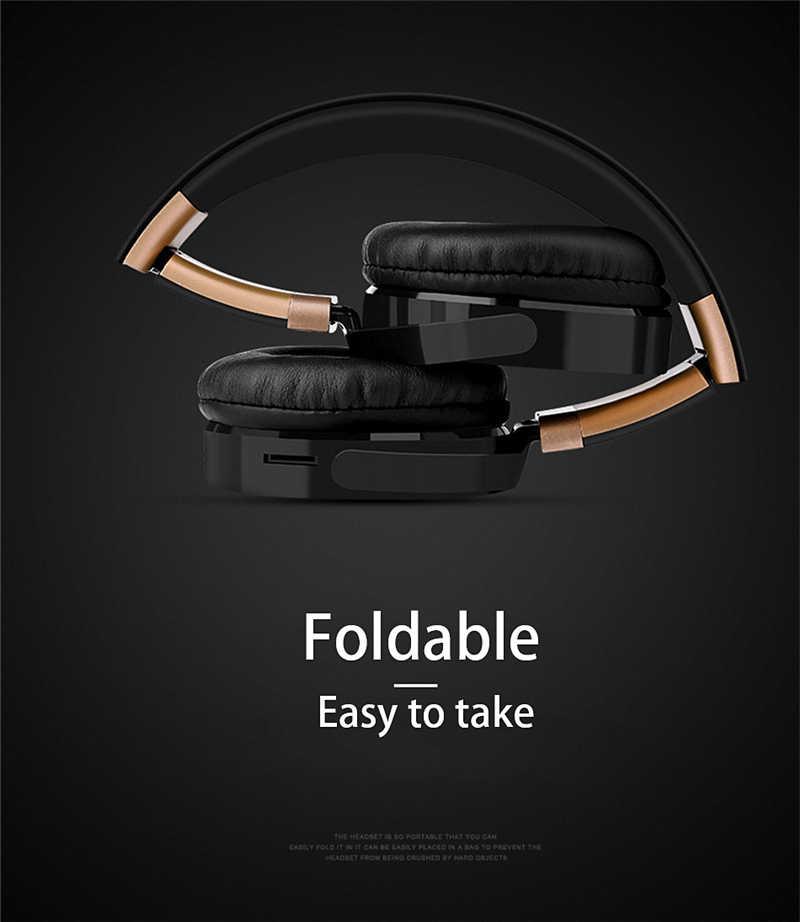 LVcards b-nowe przenośne słuchawki bezprzewodowe Bluetooth Stereo składany zestaw słuchawkowy Audio Mp3 regulowane słuchawki z mikrofonem do telefonów