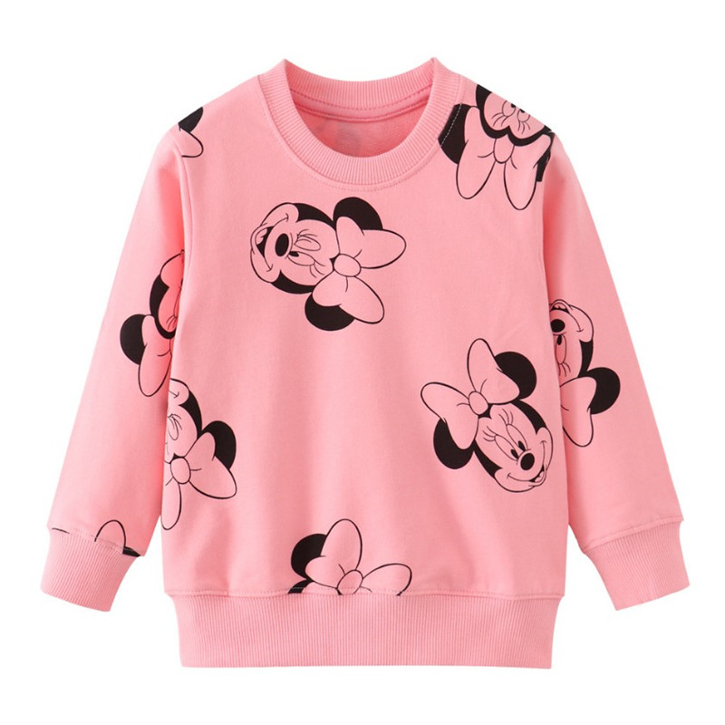 Sweatshirts Top-Girl Long-Sleeve Autumn Baby Kids Fashion Minnie Cotton Children Cartoon