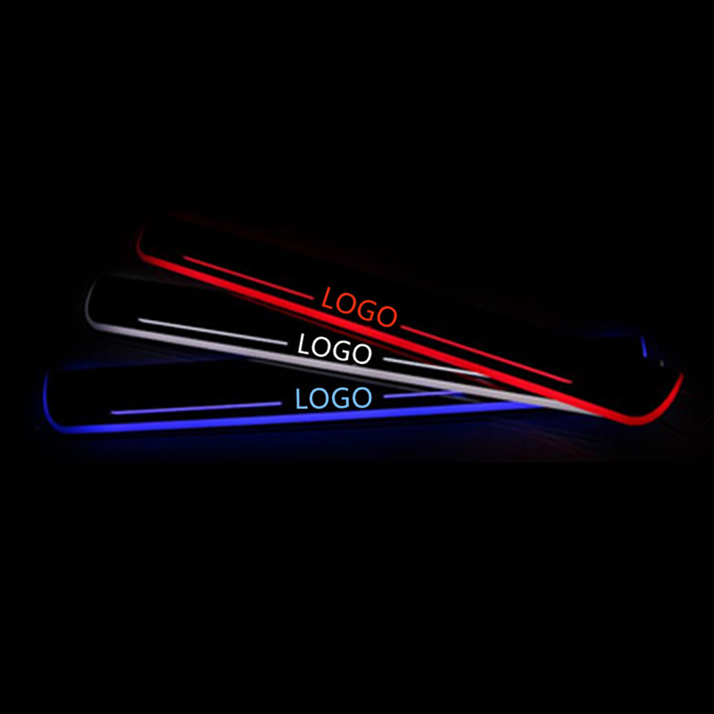 Customized Animation LED Door Sill Scuff Plate Courtesy Light For Ford