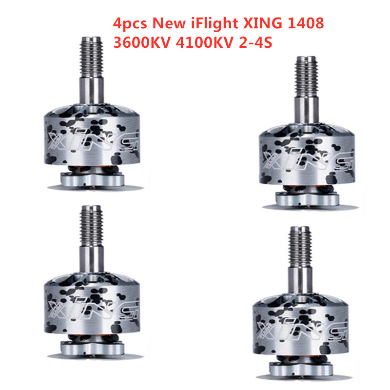 1/2/4 PCS iFlight XING 1408 3600KV 4100KV 2-<font><b>4S</b></font> Brushless <font><b>Motor</b></font> for RC Drone FPV Racing Quadcopter DIY Accessories Spare Parts image