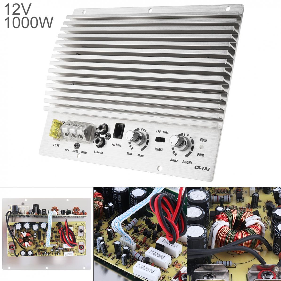 1000W Class AB Digital 2 Kanal Silber Aluminium Legierung High Power Auto Audio AMP Subwoofer Verstärker Neue