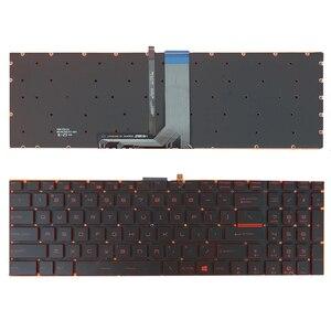 Para MSI Steelseries GP72 GP62 GT72 GS60 GS70 GE62 GL62 GE72 GE62 GS72 GT72 2QD EUA Laptop Substituição Do Teclado com Iluminação de Fundo