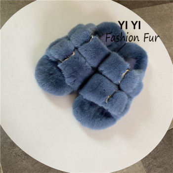 Mink Slippers European Stand Women's Real Mink Fur Slippers Fashion Ladies Furry Slippers Girls Flat Slippers Outside european station fashion new ladies fur slippers 100