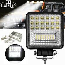 CO LUMIÈRE 4.3 inch 63W LED Lumière De Travail 4x4 Lampe Led Tout-Terrain Led Barre Lumineuse Lampe de Conduite Pour Le camion de SUV SUV Remorque BATEAU 12V 24V 4WD ANTIBROUILLARD