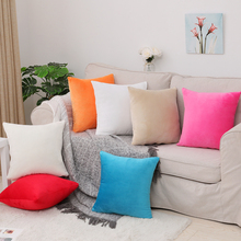 Soft Short Plush Sofa Cushion Cover 30 #215 50 40 #215 40 45 #215 45 40 #215 60 50 #215 50 55 #215 55 60x60cm Throw Pillow Cover Home Decorative Pillow Case cheap Attlomew Plain Dyed Woven Solid Square Seat Chair 30x50 40x40 45x45 40x60 50x50 55x55 60x60cm
