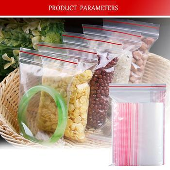 100pcs/pack Small Zip Lock Plastic Bags Reclosable Transparent Bag Shoe Bag Vacuum Storage Bag Poly Clear Bags Thickness 0.05mm image