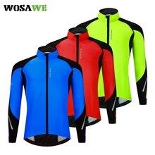 Windproof Cycling Jacket Sport-Coat Water-Repellent WOSAWE Winter Men Long-Sleeve High-Collar