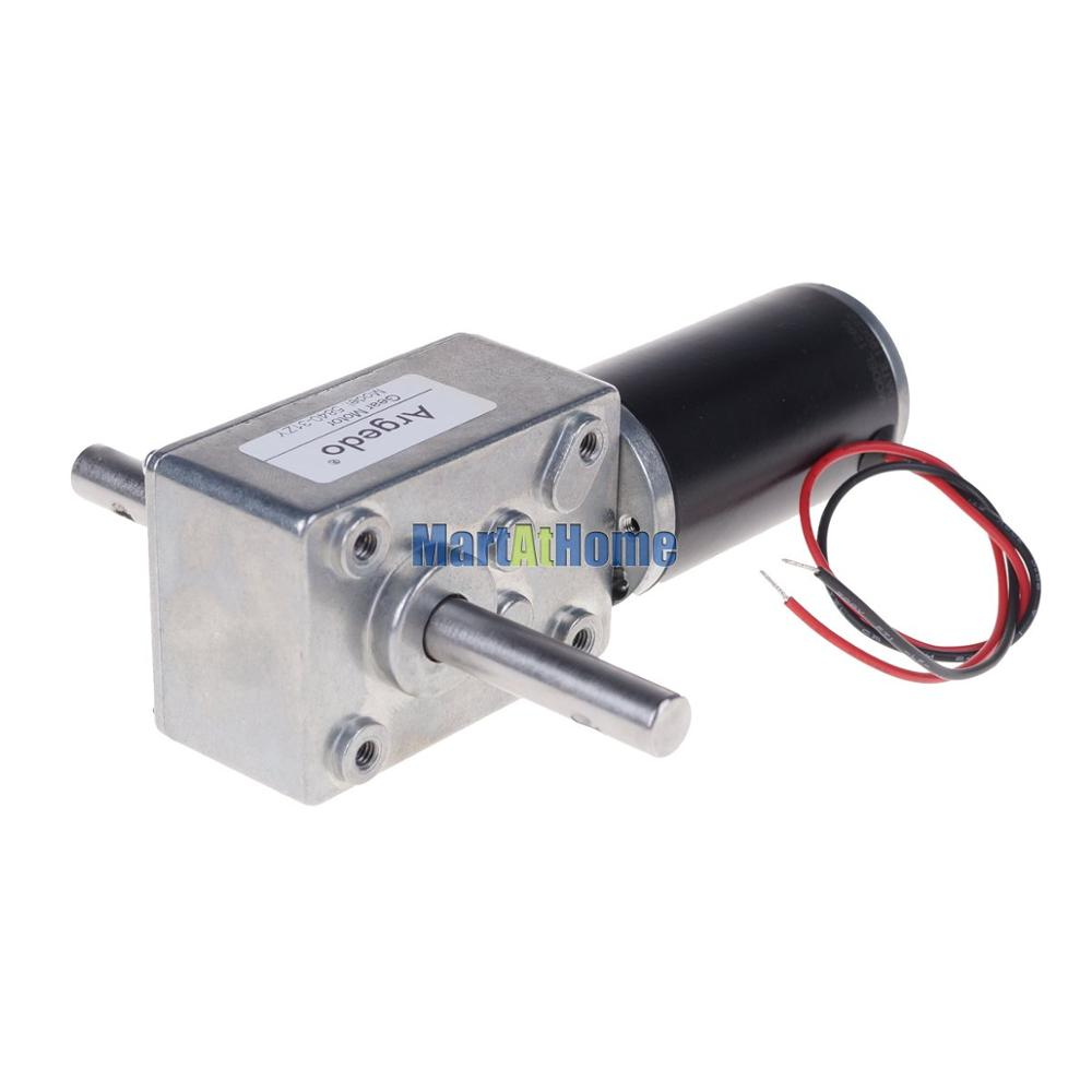 Image 2 - 5840 31zy Worm DC Geared Motor Double Shaft 21W 12V 24V Self locking Max. 70 Kg.cm for DIY Automatic drying rack-in DC Motor from Home Improvement
