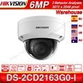 Hikvision Original 6mp IP Kamera DS-2CD2163G0-I MINI Dome Netzwerk Kamera POE H.265 SD Card Slot Unterstützung Gesicht Erkennung