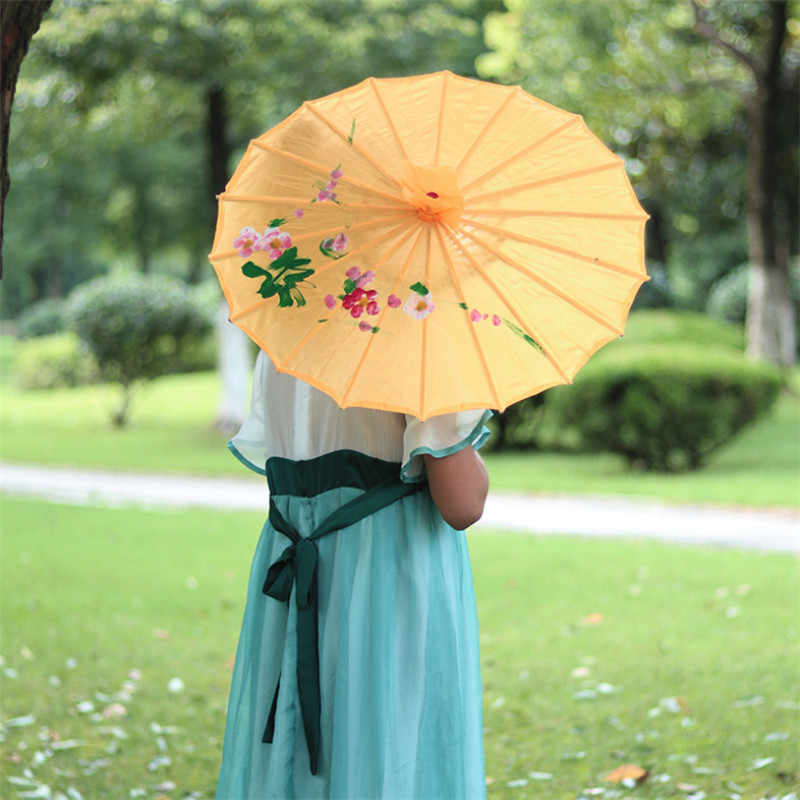 Flower Pattern Decorative Umbrella Photo Studio Performance Props Wedding Party Decor