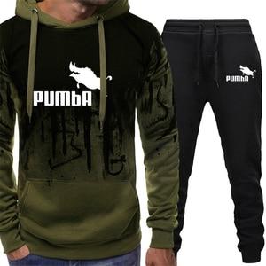 Tracksuit Men Autumn Winter Clothes Pullover Hooded Sweatshirts Pants 2 Pieces Sets Chandal Hombre Track Suit