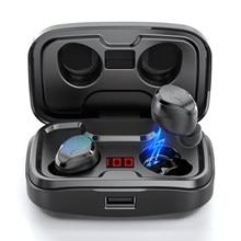 Tws sem fio bluetooth 5.0 fones de ouvido tipo-c caixa de carregamento hd fone de ouvido estéreo esportes fones de ouvido à prova dwaterproof água com microfone