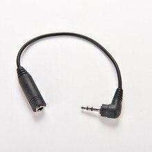 2.5mm ângulo direito macho plug para 3.5mm fêmea jack estéreo aux áudio trs tomada dc adaptador de alimentação conversor cabo 15.5cm comprimento