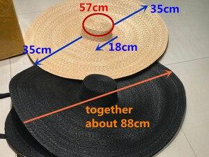 Image 1 - Axi01807 夏撮影モデルファッションショーキャットウォーク 35 センチメートル風つばレジャービーチ女性ウェディングキャップ女性の休日太陽の帽子