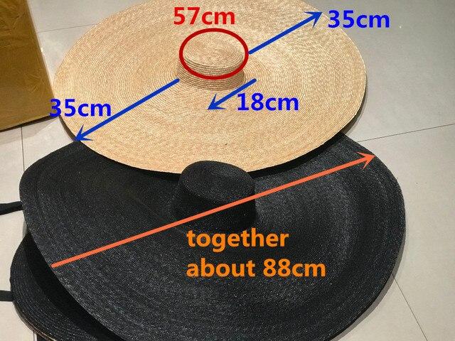 Axi01807 夏撮影モデルファッションショーキャットウォーク 35 センチメートル風つばレジャービーチ女性ウェディングキャップ女性の休日太陽の帽子