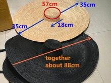Axi01807 ฤดูร้อนถ่ายภาพชุดแฟชั่นแสดง catwalk 35 ซม.ลม brim ชายหาดเลดี้หมวกผู้หญิง holiday sun หมวก