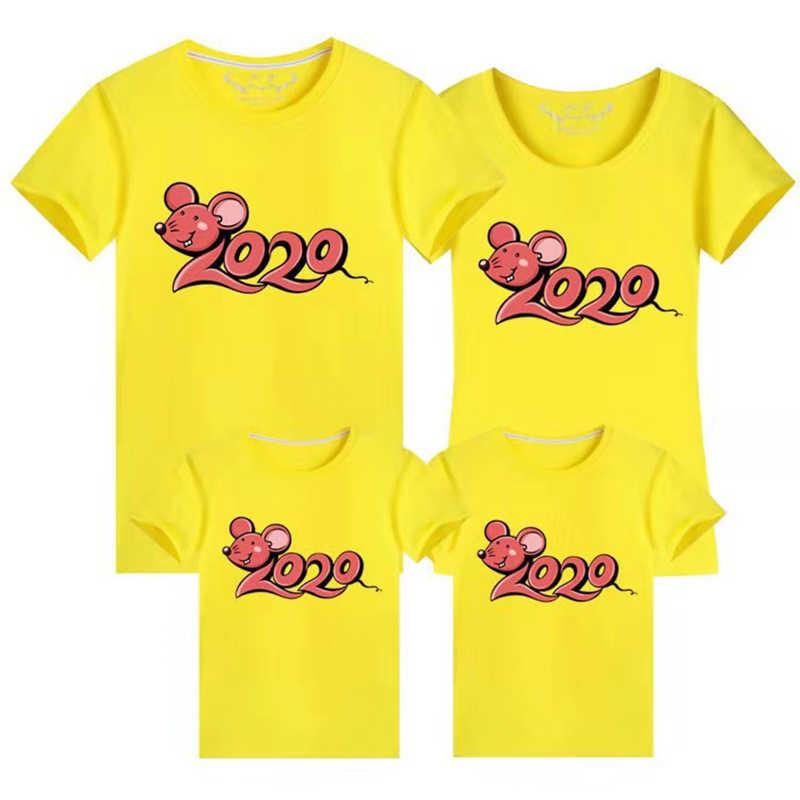 2020 ano novo família combinando roupas estilo mouse família verão camiseta mamãe e filha pai e filho roupas família olhar