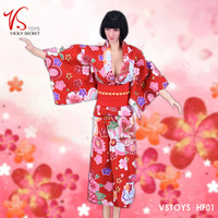 1/6 Scale Female Sexy Japanese Woman Girl Lady Kimono Skirt Clothes Suit Clothing Set For12 TBleague Figure Female Body Doll
