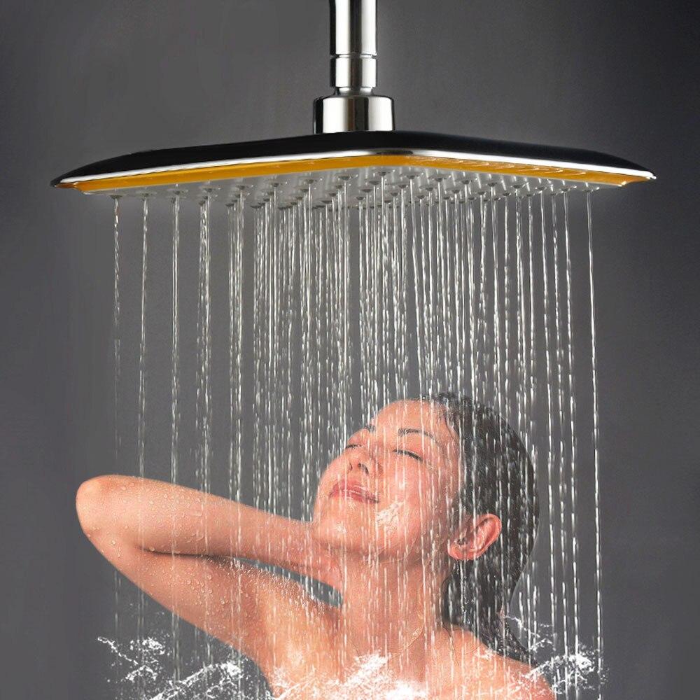 8 Inch Bathroom Shower Head Set Top Over Head Rotate 360 Degree Stainless Steel Hand Held Large Rainfall Shower Head Sprayer