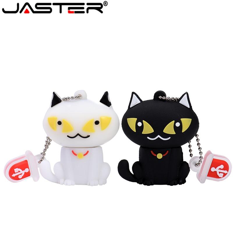 JASTER Cartoon 64GB Cute Bell Cat USB Flash Drive 4GB 8GB 16GB 32GB Pendrive USB 2.0 Usb Stick