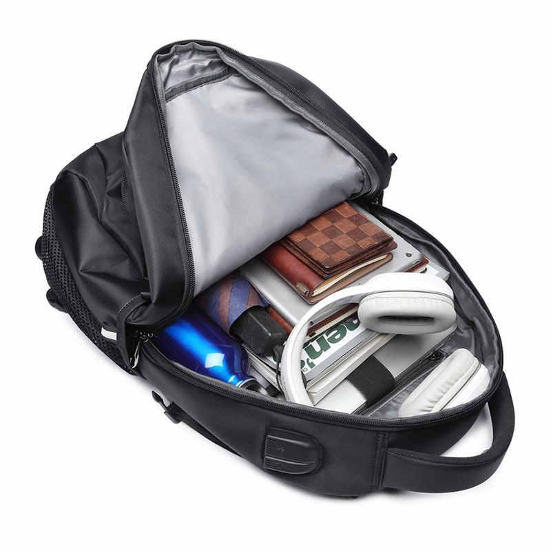 Nueva mochila para hombre a la moda multifuncional impermeable 15,6 pulgadas Bolsa de ordenador portátil hombre USB bolsa de viaje de carga mochilas de gran capacidad