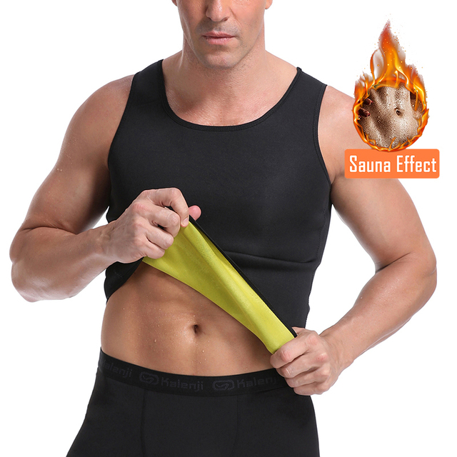 Men Slimming Body Shaper Waist Trainer Belt Belly Slimming Vest Sauna Neoprene Abdomen Fat Burning Shaperwear Waist Sweat Corset