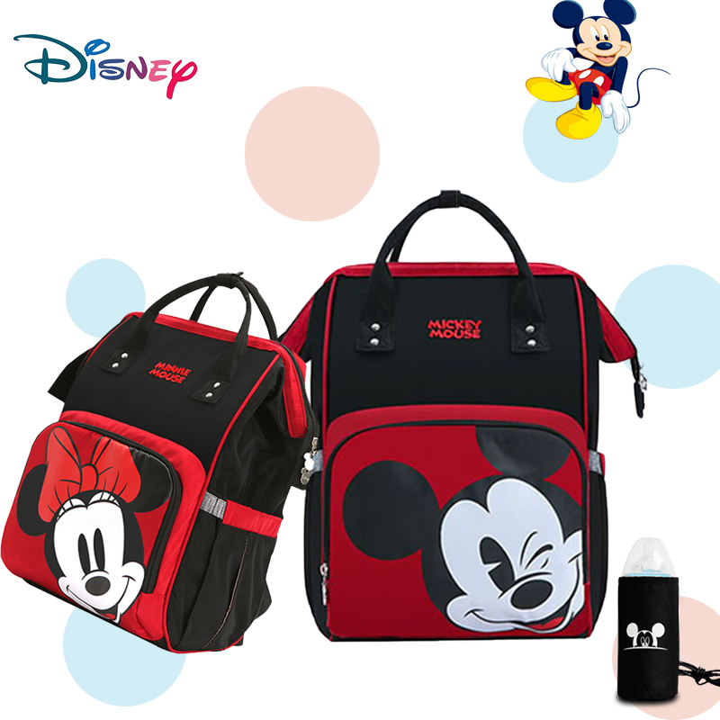 Disney Mickey Baby Diaper Bag USB Backpack Maternity Baby Multifunctional Bags Large Capacity Baby Stroller Bag Holder Nappy Bag