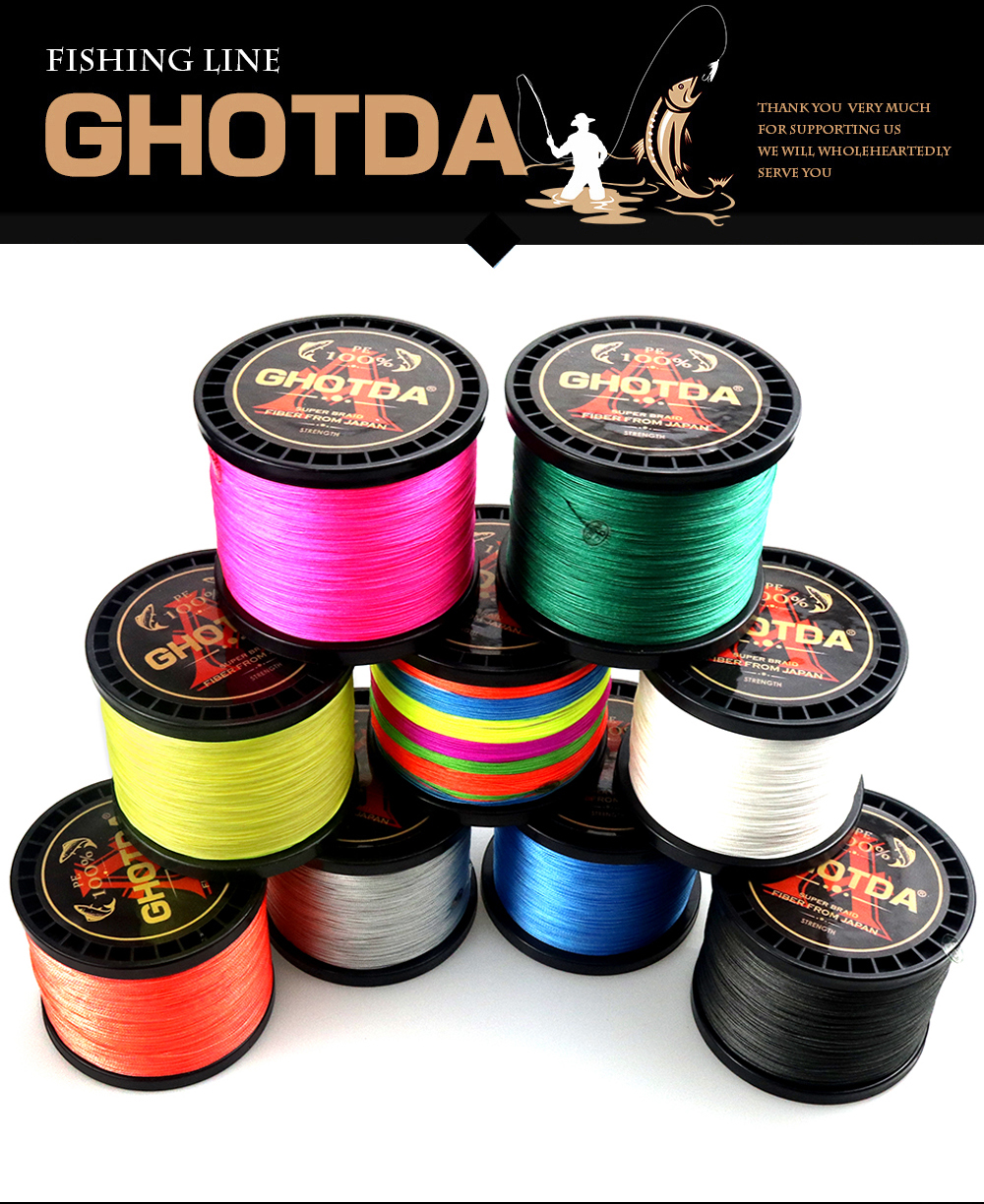 GHOTDA 8 Strands PE Braided Fishing Line