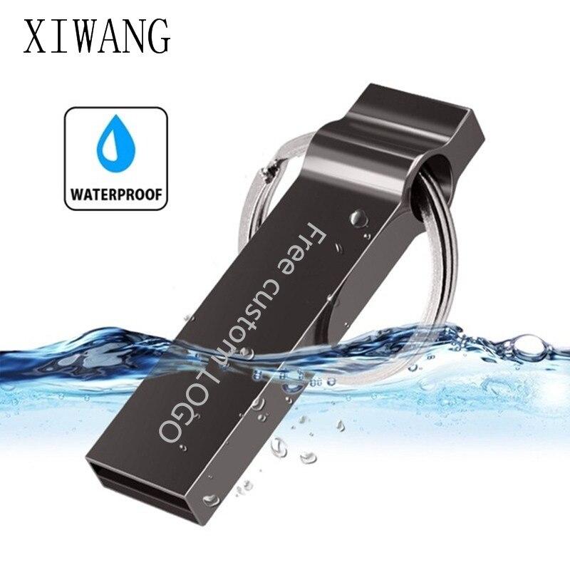 Metal Usb Flash Drive 128GB 64GB Waterproof Pen Drive 32GB 16GB Pendrive 8GB Cle Usb Flash Disk Memory Stick Free Custom LOGO