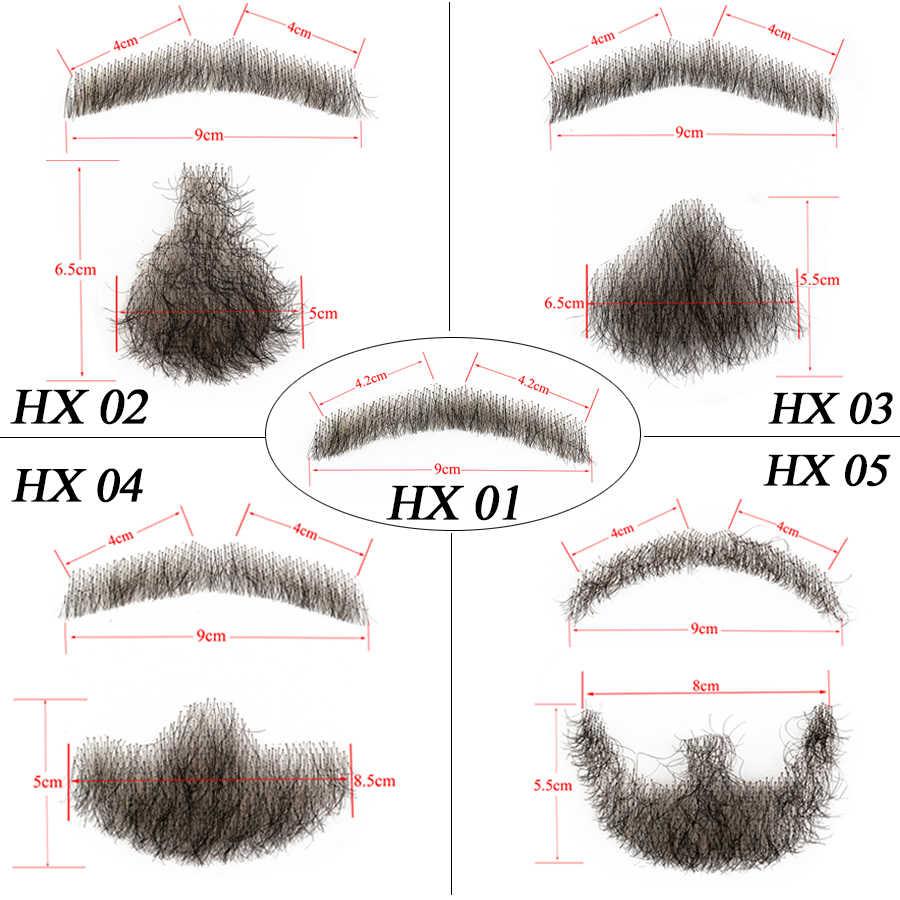 Alileader 偽のひげレースフェイク口ひげショート見えないレースフェイク男性用偽口ひげ 100% 人毛ハンドメイド口ひげ