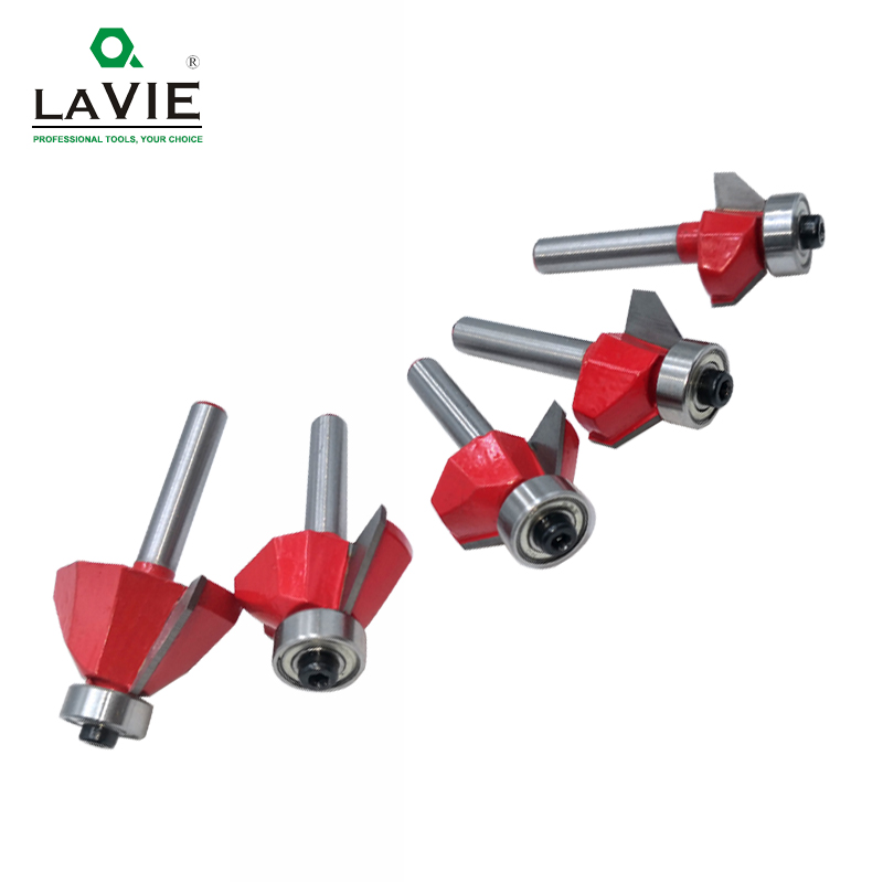 Image 3 - LAVIE 1pc 6mm 6.35mm Shank 45 Degree Chamfer Router Bit Edge Forming Bevel Woodworking Milling Cutter for Wood Bits MC01130-in Milling Cutter from Tools