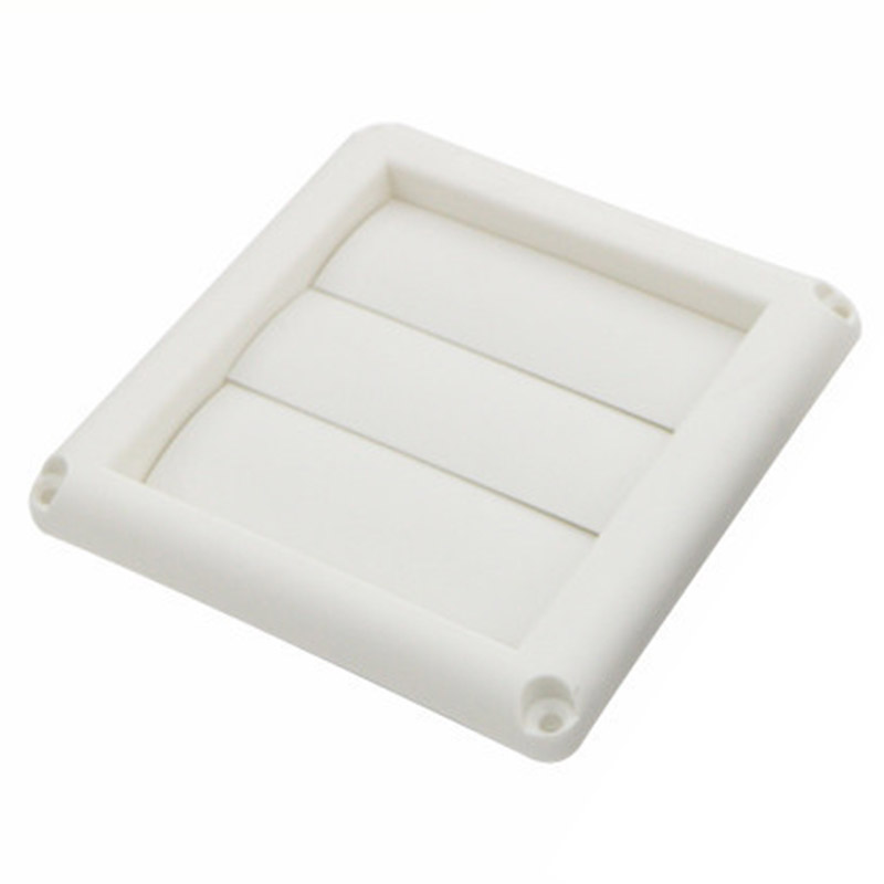Outdoor Dryer Air Vent Cover Cap Louvered Cover White Exterior Wall Vent Hood Outlet Airflow Vents JS23